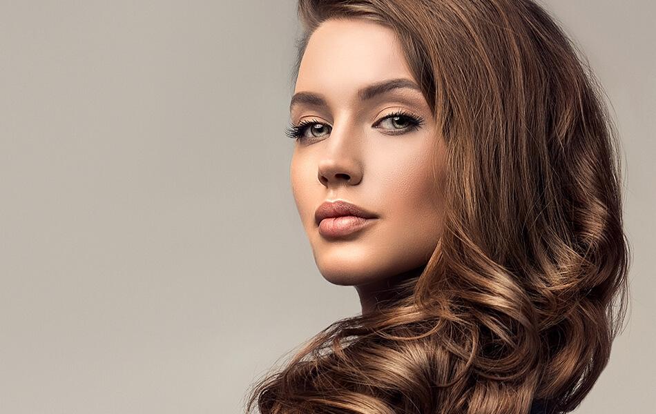 Woman with nice brown hair