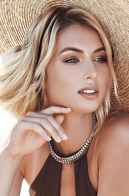 Woman wearing a sun hat