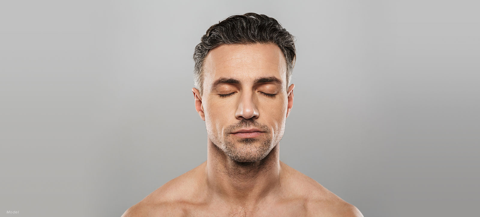 Man with his eyes closed