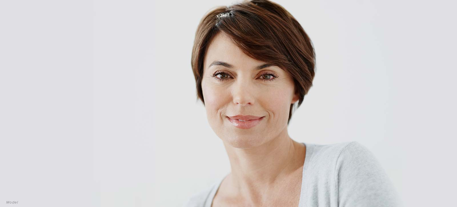 Woman's face with youthful skin