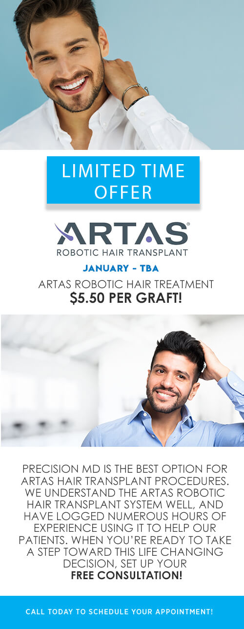 Limited Time Offer - Artas Hair Transplant.