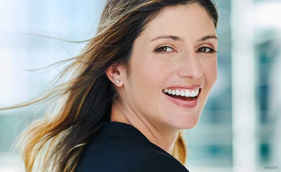 youthful woman smiling
