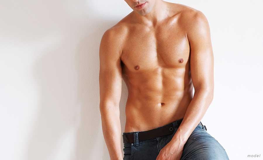 Man's abdomen